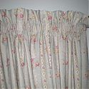 Ruffle top interlined curtains