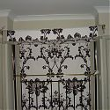 A trimmed double sided  bed canopy